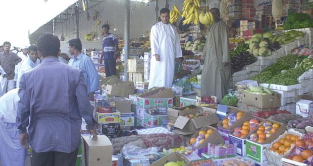 699 حاوية من الخضراوات والفواكه استقبلها سوق الموالح المركزي
