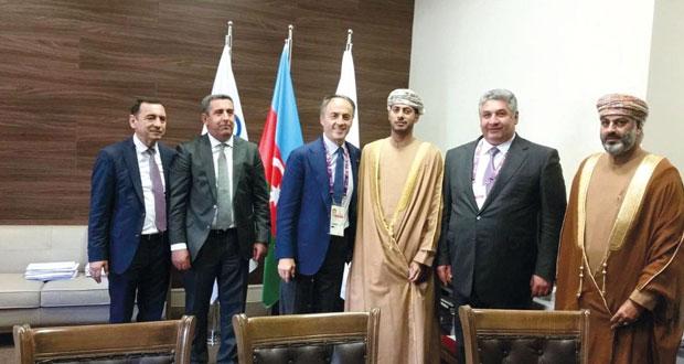سعد المرضوف يستقبل وزير الشباب والرياضة باذربيجان