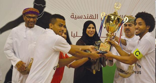 تتويج فريق كلية كالدونيان الهندسية بلقب البطولة السادسة لمؤسسات التعليم العالى لكرة القدم