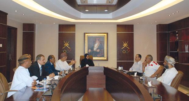 لجنة التخطيط والمتابعة باللجنة الأولمبية تعقد سلسلة من اللقاءات مع الاتحادات الرياضة