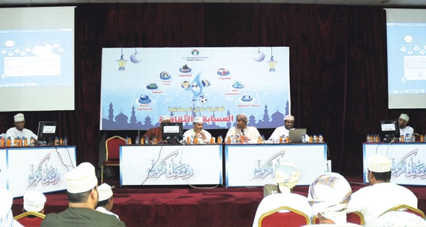 """محاضرات ثقافية وأمسية إنشادية ضمن فعاليات المسابقة الثقافية """"غازي14″"""