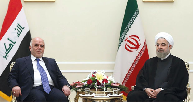 العراق :العبادي يبحث في إيران الحرب على الإرهاب ومقتل 5 شرطيين في بيجي