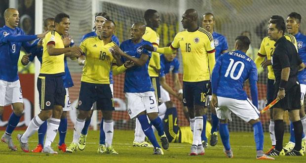 كولومبيا ترد اعتبارها تلحق الخسارة الأولى بدونجا البرازيل