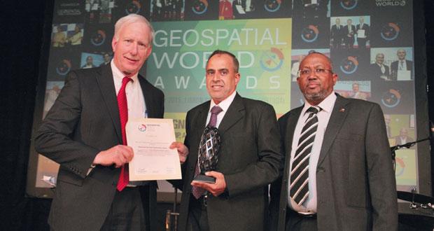 الهيئة الوطنية للمساحة تفوز بجائزة المنتدى العالمي للجغرافيا المكانية
