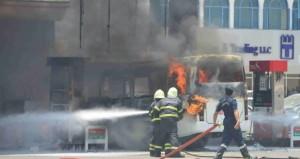 السيطرة على حريق بمحطة المها بالغبرة الشمالية