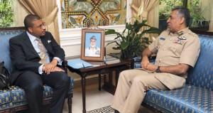 العبيداني يستقبل نائب مساعد وزير الخارجية الأميركية