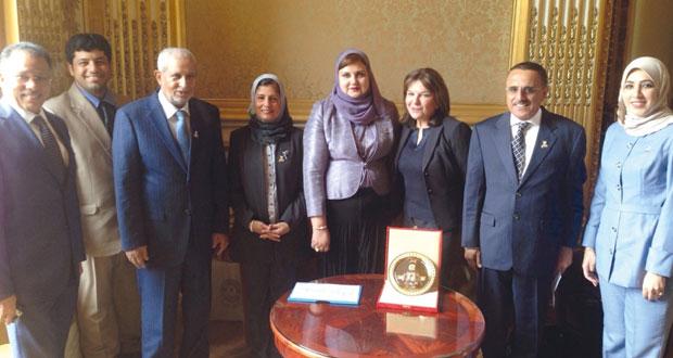 وفد لجنة الصداقة البرلمانية بمجلس الدولة يلتقي رئيسة مجموعة الصداقة الفرنسية الخليجية