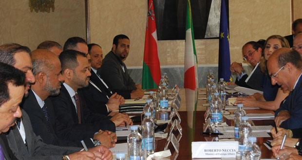 اللجنة العمانية ـ الإيطالية تبحث في روما تعزيز مجالات التعاون الاقتصادي والاستثماري والثقافي بين البلدين