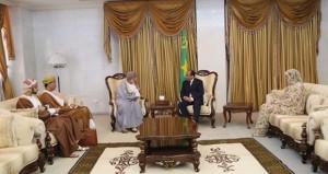 رسالة شفهية من جلالة السلطان للرئيس الموريتاني