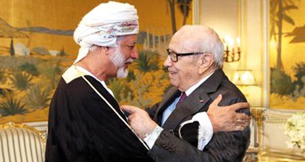 رسالة من جلالة السلطان للرئيس التونسي