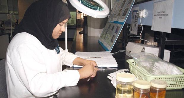 جهود كبيرة للمرأة في تنمية وتطوير القطاع السمكي في السلطنة