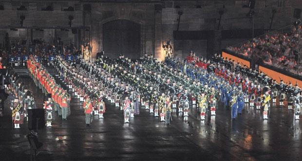 موسيقى الجيش و سلاح الجو السلطاني العماني تواصل عروضها الموسيقية في تاتو بازل بسويسرا