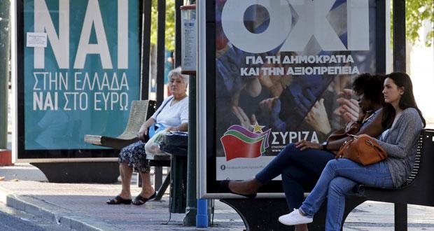 اليونان تترقب نتائج الاستفتاء على اشتراطات (الترويكا) وتتهم الدائنين بـ(الإرهاب)