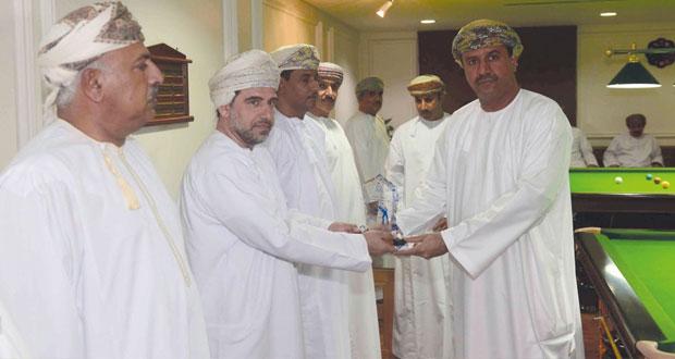 ختام بطولة شرطة عمان السلطانية للسنوكر والسهم الرمضانية للضباط لعام 2015م