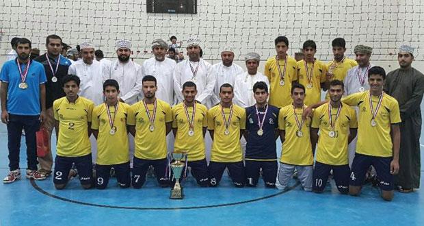 فريق العربي يحسم لقب بطولة شجع فريقك للكرة الطائرة بنادي البشائر