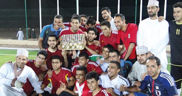 تتويج فريق فرق بطلا لبطولة أصباغ برجر الرمضانية الثانية بمحافظة الداخلية