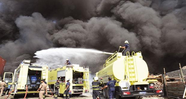 اخماد حريق هائل بمنطقة الجفنين