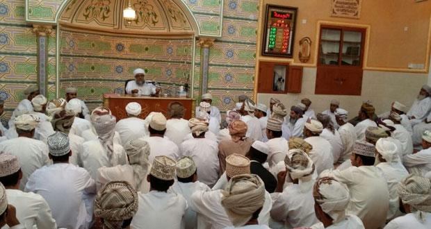 افتتاح مسجد الأوابين بببلدة وادي قريات ببهلاء