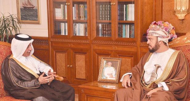نيابة عن جلالته .. أسعد بن طارق يودع سفيري قطر وأفغانستان بمناسبة انتهاء مهام عمليهما