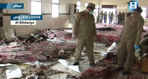 السعودية: تفجير انتحاري لمسجد بعسير والسلطنة تدين