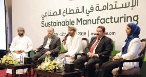 """""""المناطق الصناعية"""" تنظم ندوة """"الاستدامة في القطاع الصناعي"""" ضمن مجموعة الصناعيين العمانيين 2015"""