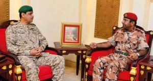 مطر البلوشي يستقبل قائد قوات درع الجزيرة المشتركة