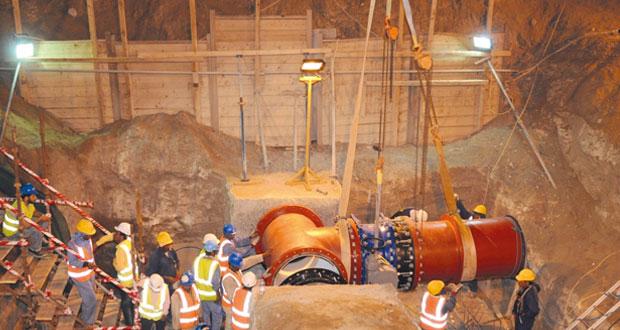 بدء تشغيل المرحلة الأولى من مشروع خط المياه الجديد قطر (1600) من محطة الغبرة إلى خزان القرم