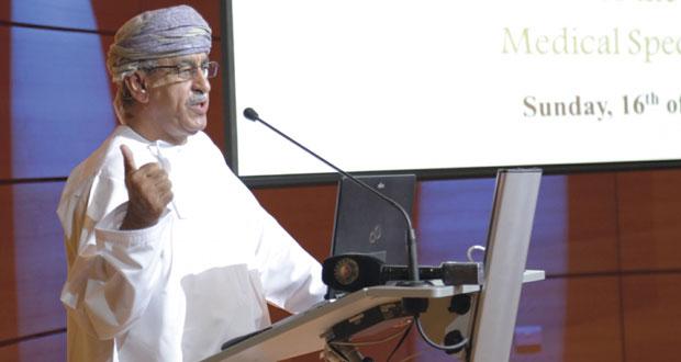 وزير الصحة يفتتح الأسبوع التعريفي للأطباء المقيمين الجدد في المجلس العماني للاختصاصات الطبية