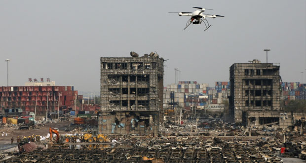 الصين: أعمال تنظيف دقيقة لرفع أطنان كيماويات سامة من (تيانجين)