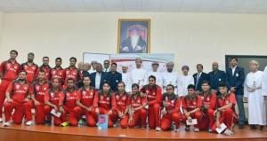 وزارة الشؤون الرياضية تحتفي بمنتخب الكريكت المتأهل لنهائيات كأس العالم