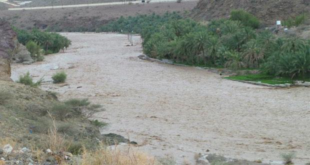 أمطار الخير تتواصل و54 مليون متر مكعب مياه بـ(وادي ضيقة)