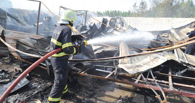 حريق بسكنات عمال بغلا الصناعية ولا إصابات