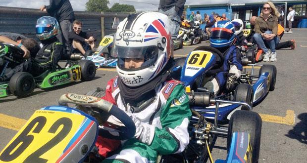 شهاب الحبسي يشارك في السباق الأوروبي للكارتينج