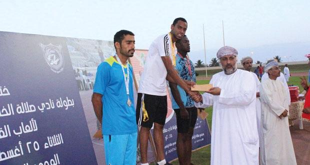 انطلاقة مثيرة لبطولة نادي صلالة الخليجية الودية الأولى لألعاب القوى
