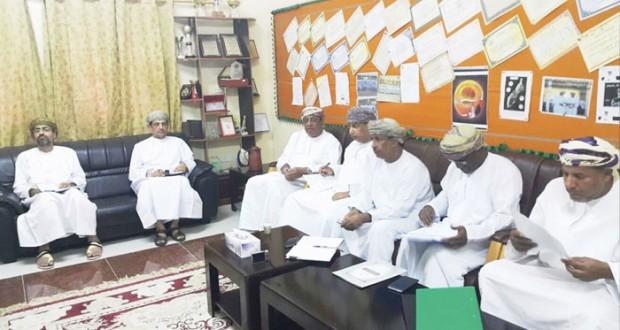 لجنة دعم جهود المحافظات تزور مدارس مصيرة