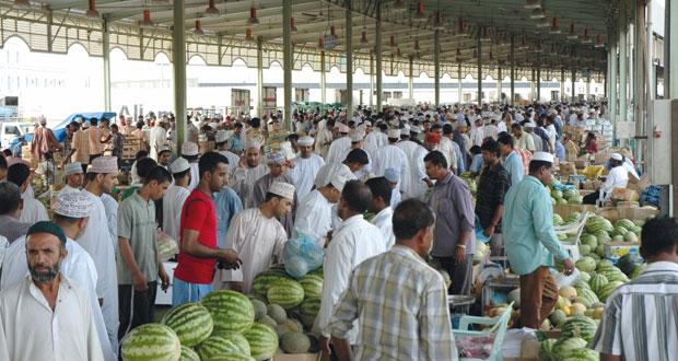 14 ألف طن من الفواكه والخضراوات استقبلها سوق الموالح المركزي