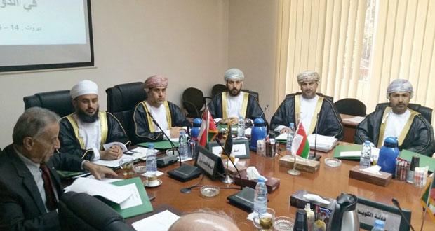 السلطنة تشارك في المؤتمر السادس لرؤساء المحاكم العليا في الدول العربية ببيروت