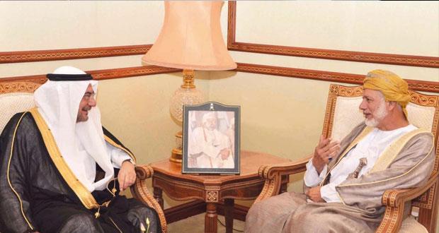 يوسف بن علوي يستقبل أمين عام منظمة التعاون الإسلامي