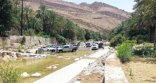 وادي بني خالد بمحافظة شمال الشرقية يشهد حركة سياحية نشطه