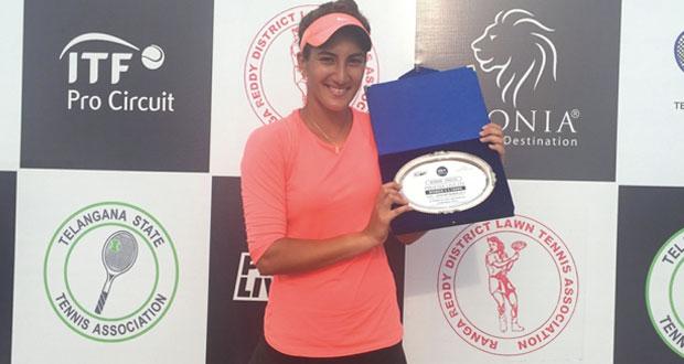 فاطمة النبهانية تحرز ذهبية فردي السيدات في البطولة الهندية الدولية بحيدر أباد
