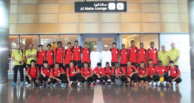 في البطولة الخليجية لمنتخبات..الشباب منتخبنا الوطني لشباب كرة القدم يصل الدوحة وعينه على اللقب