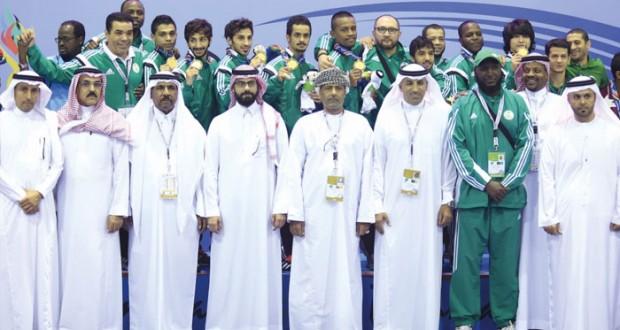 في دورة الألعاب الخليجية الثانية بالدمام بعثة السلطنة تحافظ على المركز الثالث في الترتيب العام بـرصيد 23 ميدالية ملونة