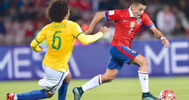 سقوط مثير للبرازيل والأرجنتين وانتصارات ثمينة لكولومبيا وأوروجواي وتشيلي