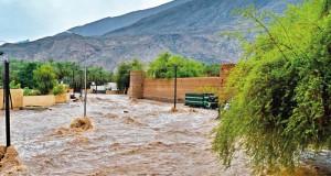 هطول أمطار متفاوتة الغزارة وجريان الأودية بعدد من الولايات