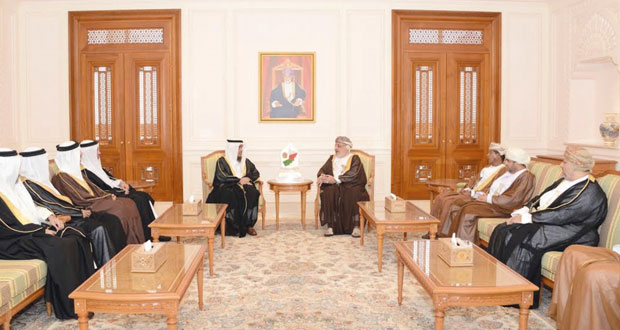 رئيسا مجلس الدولة وجهاز الرقابة المالية والإدارية للدولة يستقبلان رئيس ديوان الخدمة المدنية البحريني