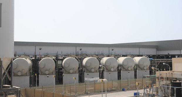 إنتاج محطة تحلية المياه الجديدة بالغبرة تصل إلى الطاقة القصوى بمعدل 42 مليون جالون يومياً بعد شهرين من التشغيل