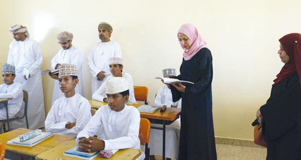 وزيرة التربية والتعليم تزور مدرستي الشيخ ابن بركة السليمي والمعمور بولاية بهلاء