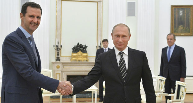 الأسد يزور موسكو ويشدد خلال لقائه بوتين على أهمية الخطوات السياسية بعد العمليات العسكرية