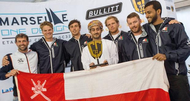 """القارب """"سلطنة عمان"""" يتوج بطلاً للنسخة الأولى لسلسلة سباقات جي.سي32 الشراعية"""