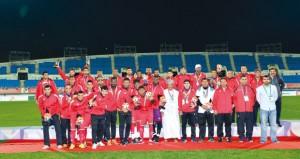المنتخب العسكري لكرة القدم يتوج بالفضية والمقبالي أفضل لاعب وهداف البطولة